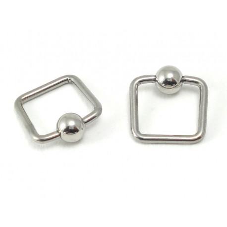Piercing anneau carré clip