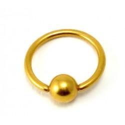 Piercing anneau plaqué or clip 1.6mm