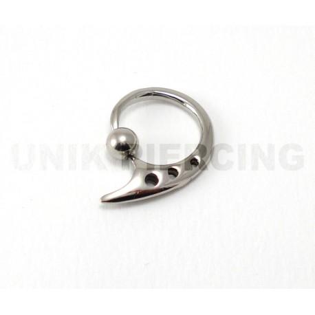 Piercing anneau clip  3 points acier