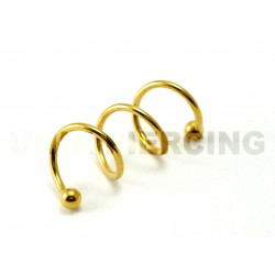 Piercing Cartilage twister 3 trous or 1.2mm