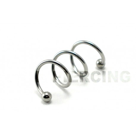 Piercing Cartilage twister 3 trous acier 1.2mm