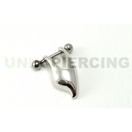 Piercing tragus/cartilage boucle tribal acier